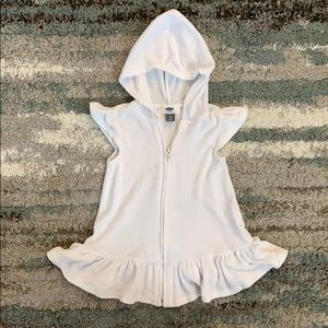 Toddler swimsuit coverup terry dress w/ hoodie 2T